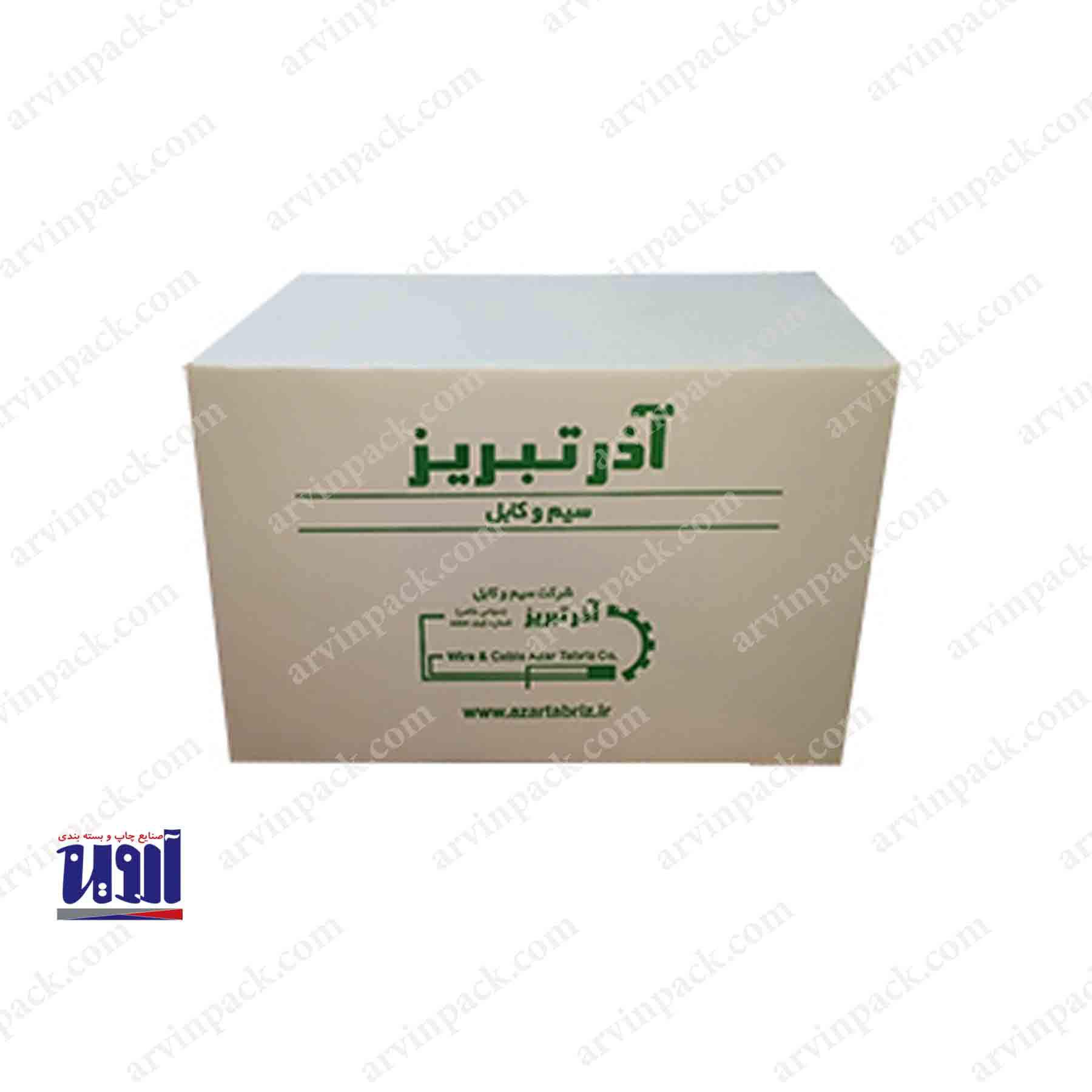 کارتن ، تولید کارتن سفید و کارتن سازی برای شرکت آذر تبریز
