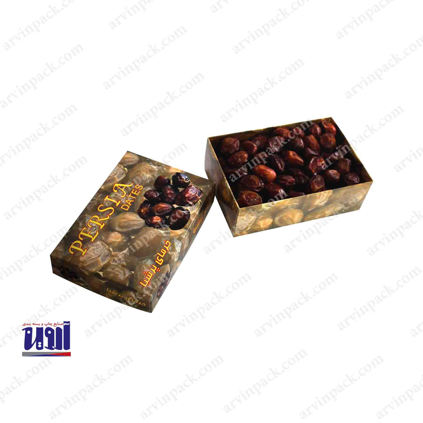 طراحی بسته بندی و جعبه خرما خاصویی