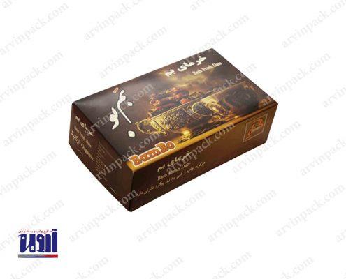 بسته بندی خرما و تولید جعبه خرما جعبه رطب مضافتی بم بو جعبه سازی بسته بندی رطب