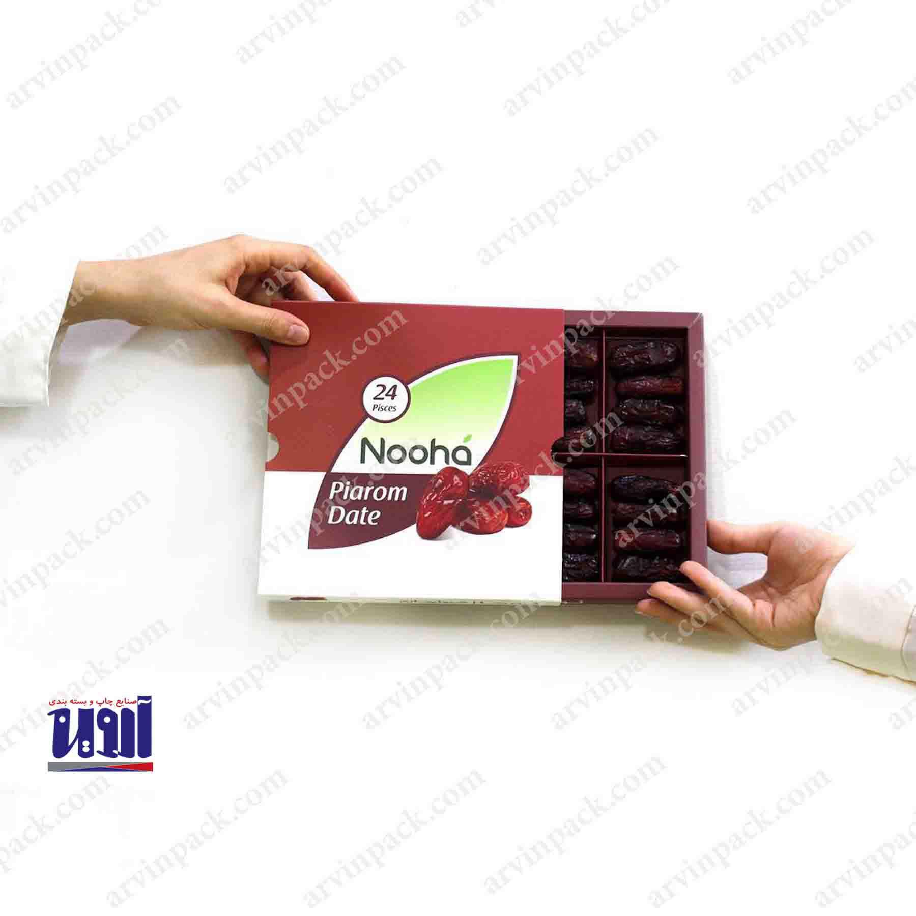 جعبه خرما صادراتی، بسته بندی رطب مضافتی