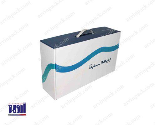 جعبه لمینیتی بیمه سینا ، در بر دارنده بسته بندی خشکبار