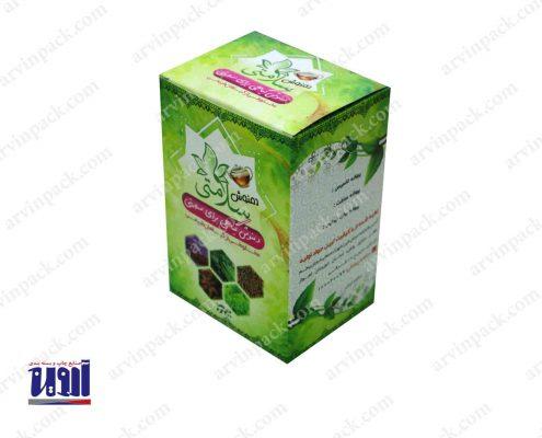 جعبه مقوایی چای و بسته بندی دمنوش سلامتی