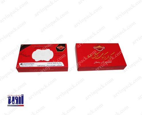 بسته بندی خشکبار ، جعبه سازی گوشت جعبه مقوایی