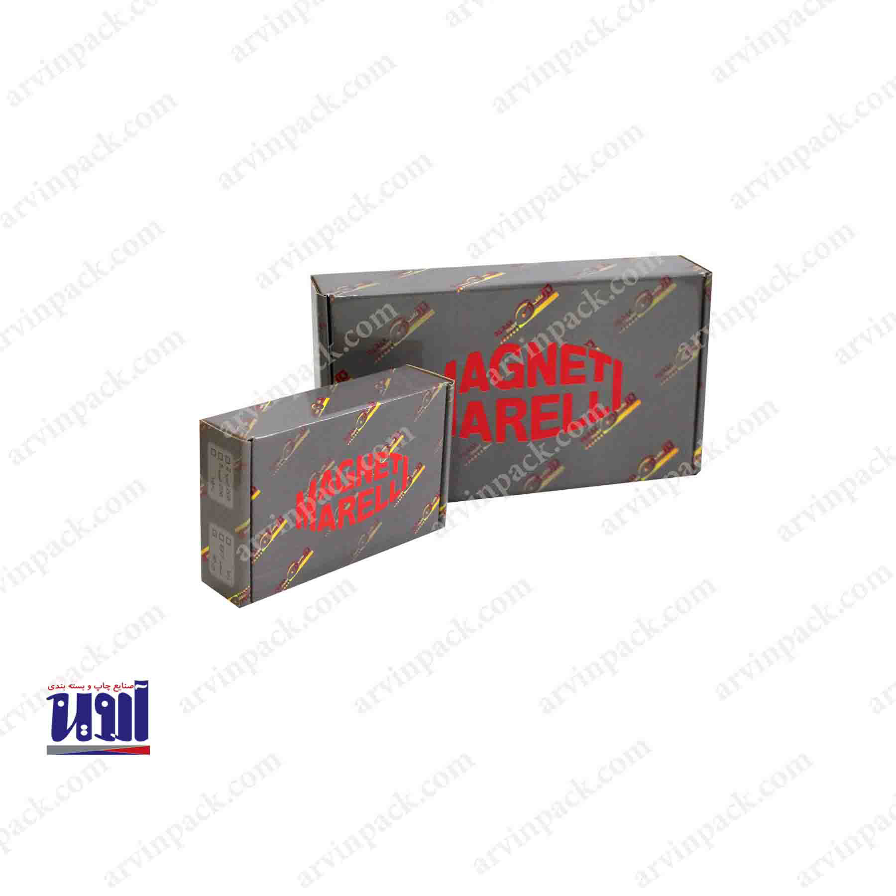 جعبه سازی و تولید جعبه لمینیتی پرک ، تولید جعبه قطعات یدکی