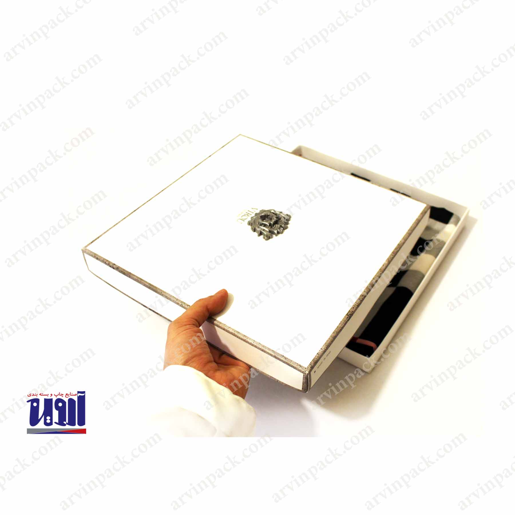 جعبه سازی ، تولید جعبه مقوایی و طراحی بسته بندی روسری ویرو