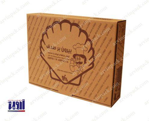 جعبه غذای بیرون بر ، جعبه غذا ، بسته بندی غذا ، کارتن غذا