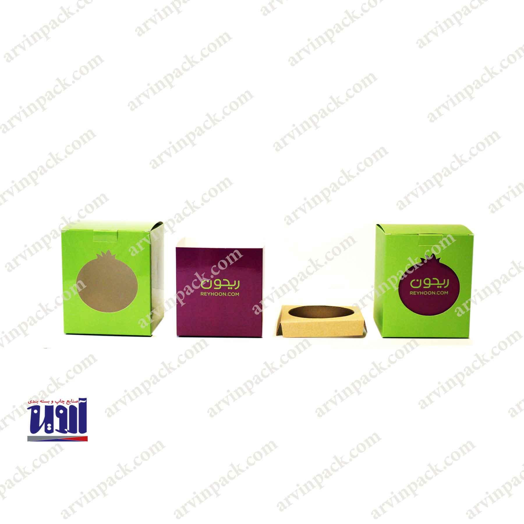 جعبه انار ریحون ، جعبه انار ، کارتن انار ، جعبه میوه ، کارتن میوه