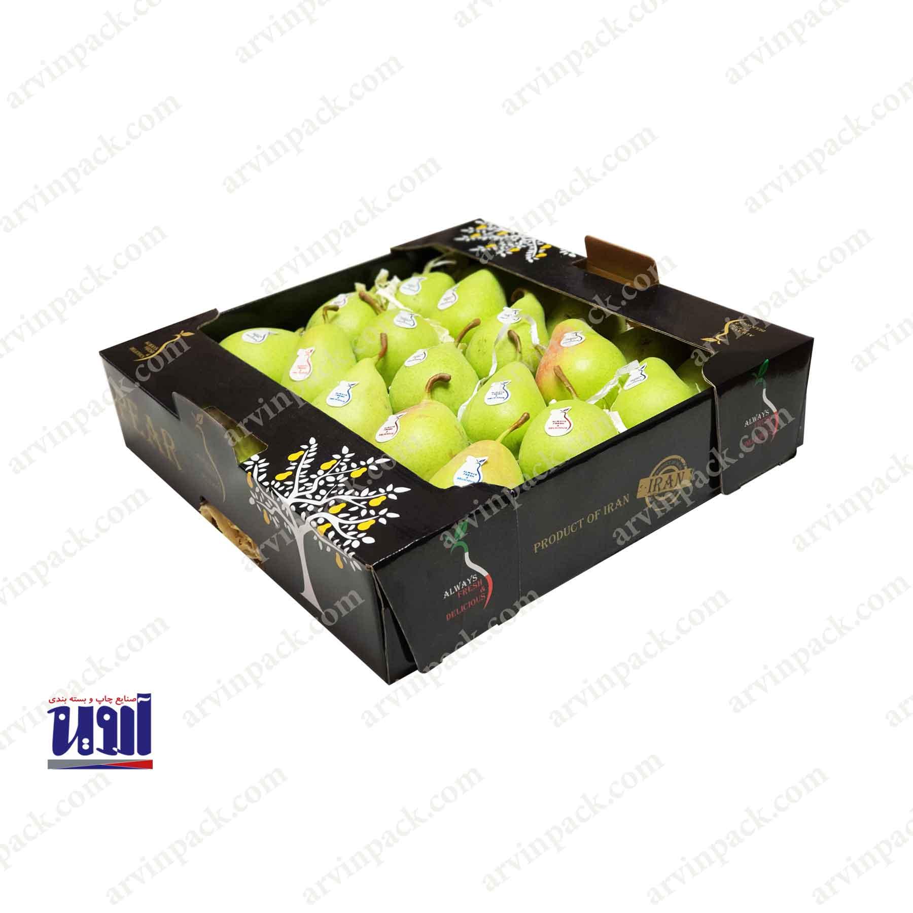 کارتن میوه صادراتی ، بسته بندی میوه صادراتی ، کارتن میوه