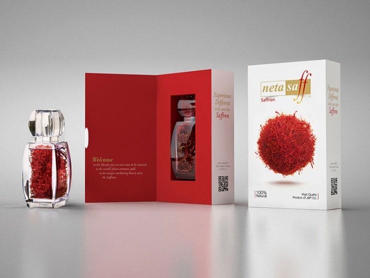 طراحی بسته بندی ، طراحی جعبه ، طراحی جعبه زعفران ، طراحی بسته بندی زعفران