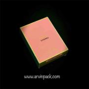 طراحی و بسته بندی جعبه عطر شنل